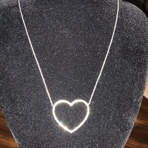 Nadri - Heart Necklace w/ Silver Rhinestones